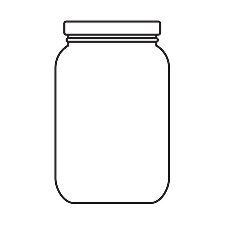 Blank jar with cap isolated on white background
