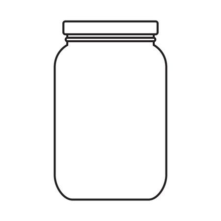 pote: Tarro blanco con tapa aislado en fondo blanco
