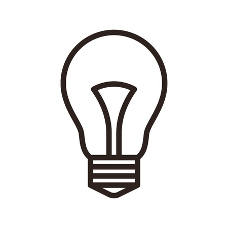 scriibble: Bulb icon isolated on white background