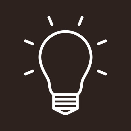 Bulb icon on dark background