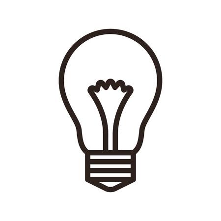 Bulb symbol isolated on white background