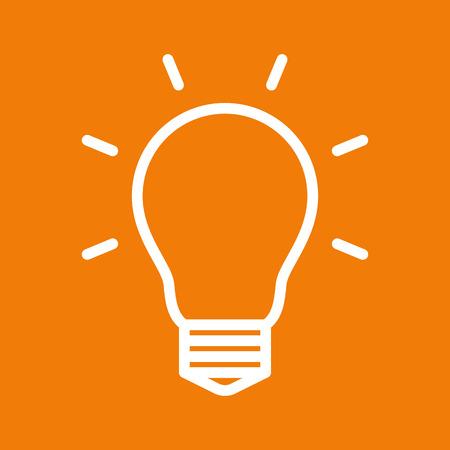 Bulb symbol on yellow background