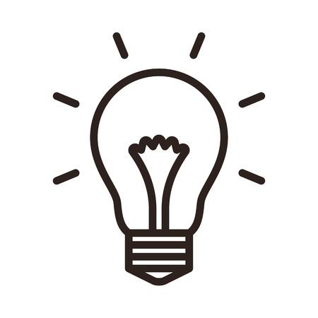 Bulb icon isolated on white background