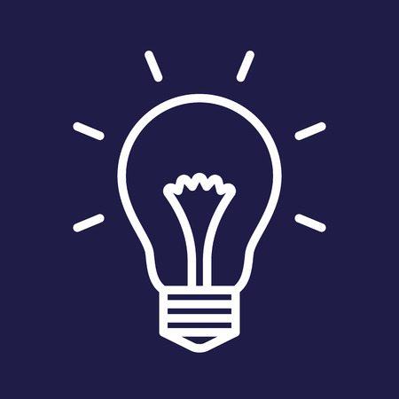 idea light bulb: Bulb symbol on blue background