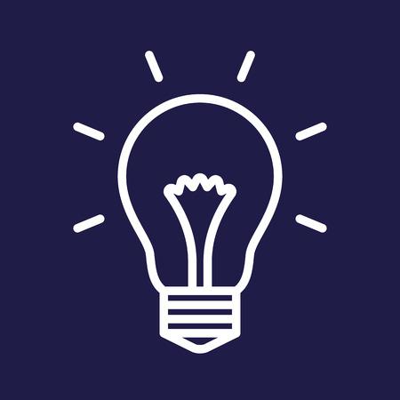 Bulb symbol on blue background