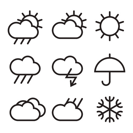 Weather sign isolated on white backgound Vector