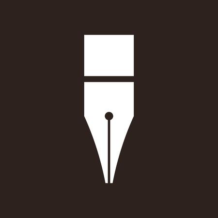 nib: Pen icon on black background