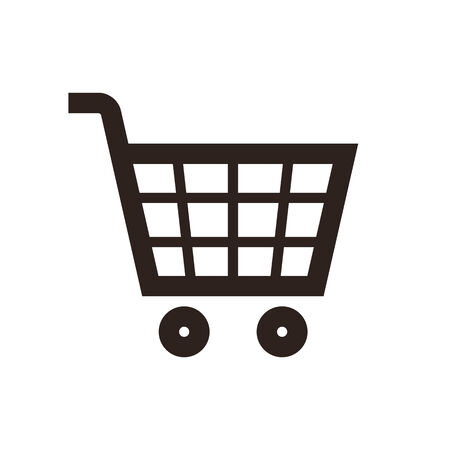 checkout button: Shopping Cart Icon isolated on white background Illustration