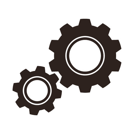 Gears  cogs  icon isolated on white background Ilustrace