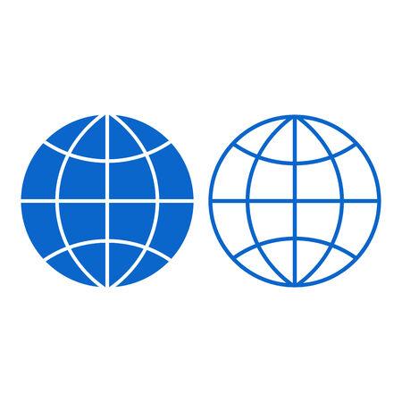coordinates: Globe sign isolated on white background