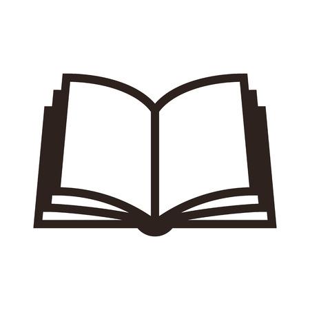 offen: Buchsymbol isoliert auf weißem Hintergrund