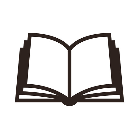 iconos: Icono libro aislado en fondo blanco