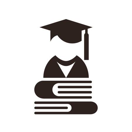 sign university: University avatar  Education icon isolated on white background