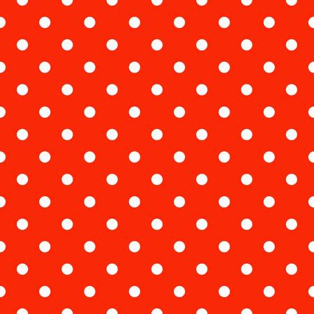 pattern pois: Seamless polka dot pattern in rosso e bianco