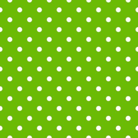 pattern pois: Senza soluzione di continuit� polka dot pattern in verde e bianco Vettoriali