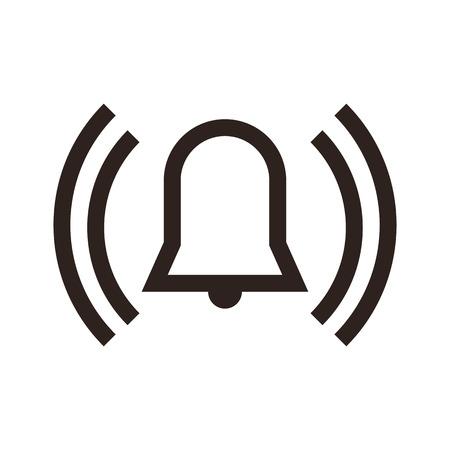 Alarm icon isolated on white background Stock Illustratie