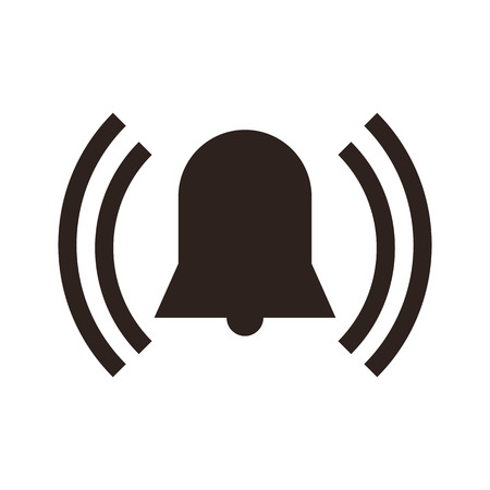 intruder: Alarm icon isolated on white background Illustration