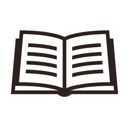 libros abiertos: Icono libro aislado en fondo blanco