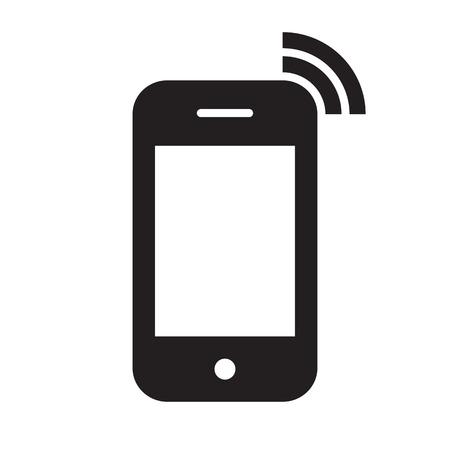 白い背景で隔離された携帯電話のアイコン