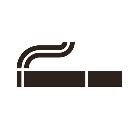 smoldering: Sigaretta segno isolato su sfondo bianco