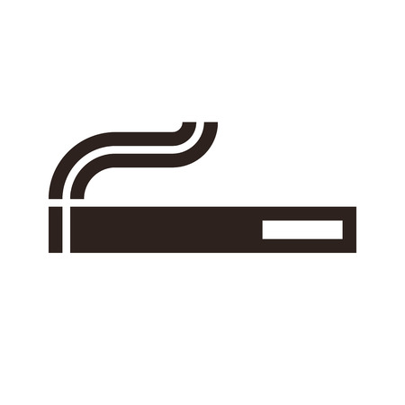 pernicious: Cigarette sign isolated on white background Illustration