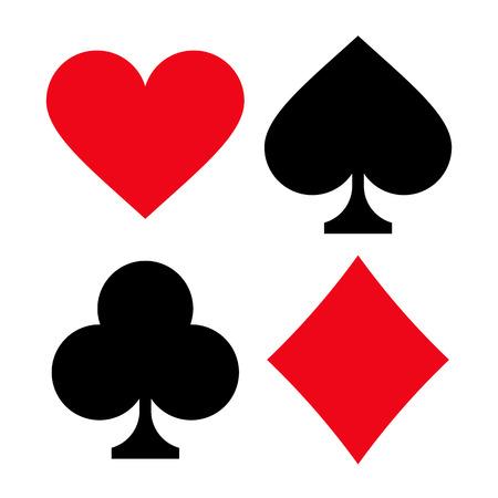 playing card symbols: Reproducci�n de tarjeta de s�mbolos aislados sobre fondo blanco
