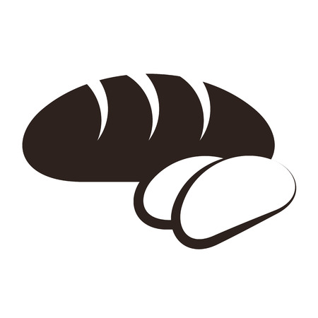 Brood en gesneden brood op een witte achtergrond