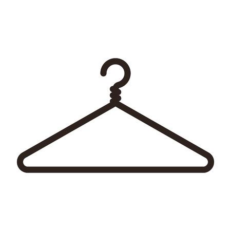 shirt hanger: Hanger icon isolated on white background