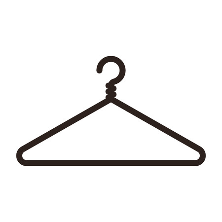 Hanger icon isolated on white background