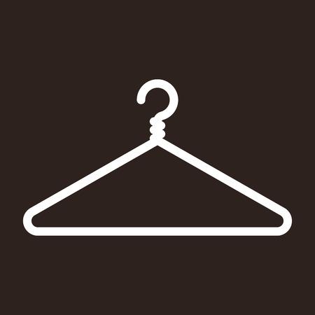 shirt hanger: Hanger icon on dark background Illustration