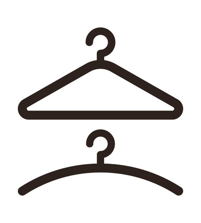 Hanger icon isolated on white background Vector