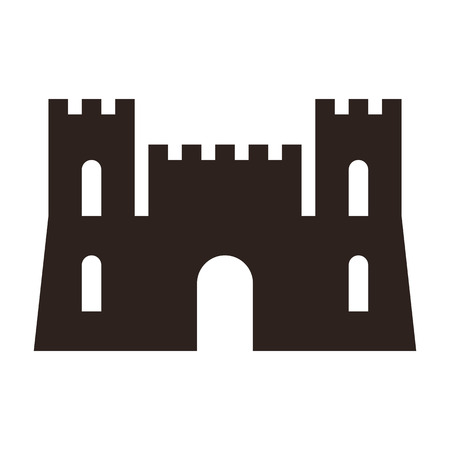 Castle icon isolated on white background Illustration