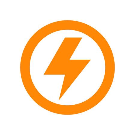 Lightning bolt sign isolated on white background