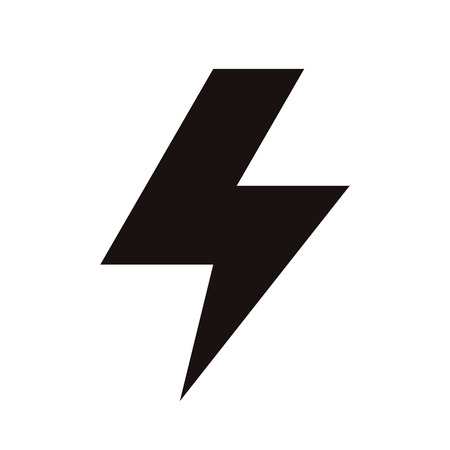 high voltage sign: Lightning bolt icon isolated on white background Illustration