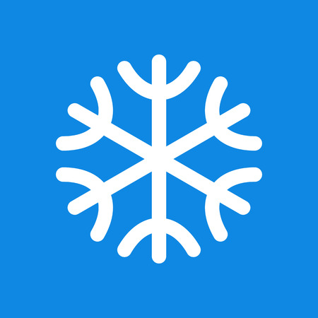 snow crystals: Snowflake icon on blue background Illustration