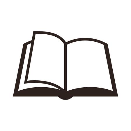 libros: Icono libro aislado en el fondo blanco