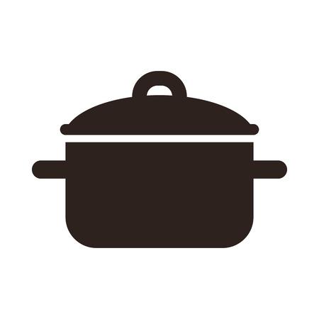 Kookpot symbool geïsoleerd op een witte achtergrond Stockfoto - 33673921