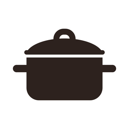 Cooking pot symbol isolated on white background