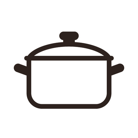 Cooking pot symbol isolated on white background Banco de Imagens - 33673922