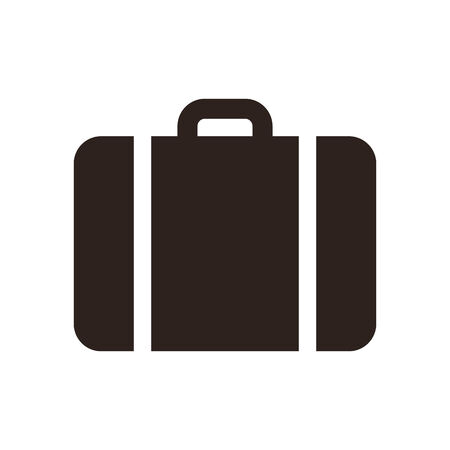 Suitcase - travel icon isolated on white background Vectores
