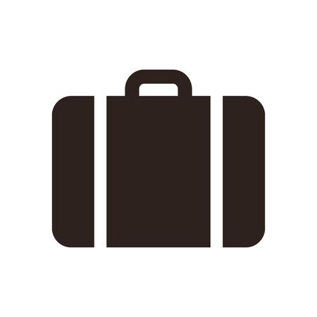 Suitcase - travel icon isolated on white background Illustration