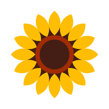 Sunflower - flower icon isolated on white background