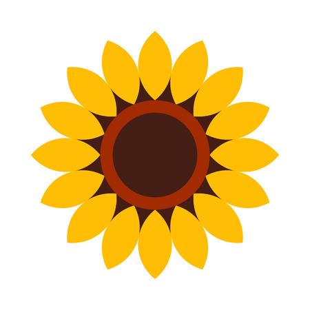 Sunflower - flower icon isolated on white background