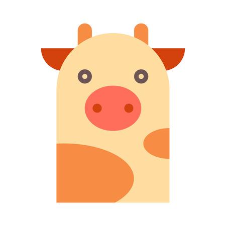 kine: Cow illustration isolated on white background Illustration