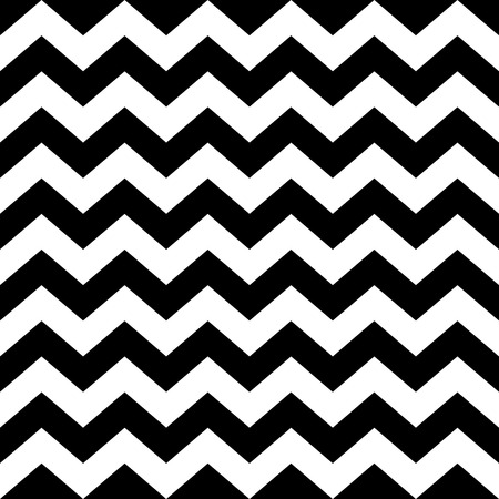 Seamless zig zag pattern in black and white. Abstract background