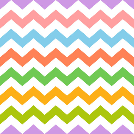 Colorful seamless zig zag pattern. Abstract background