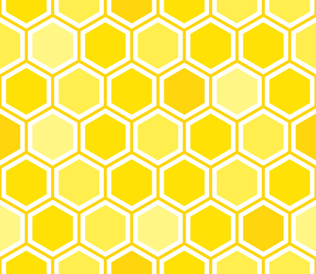 honeyed: Honeycomb seamless pattern. Abstract geometric background