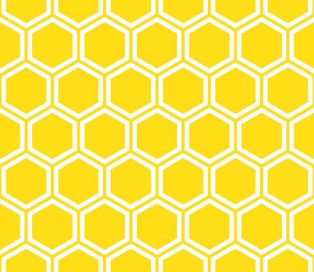 ハニカム シームレス パターン。抽象的な幾何学的な背景