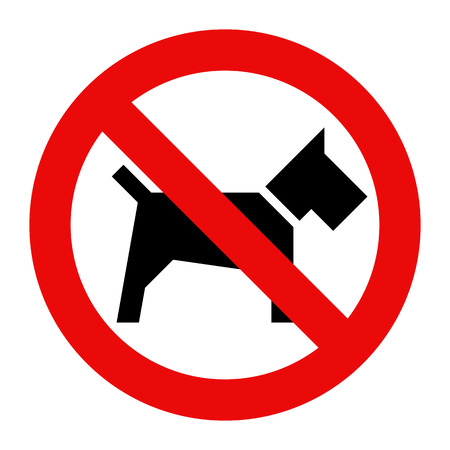 No dogs sign isolated on white background