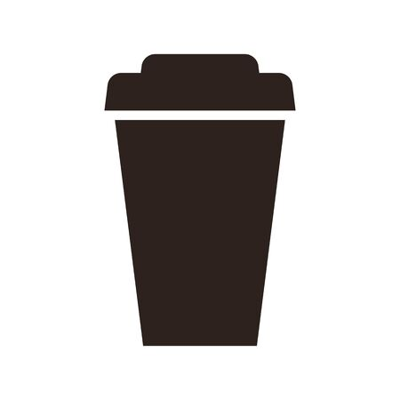 Coffee to go icon isolated on white background